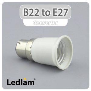 B22 to E27 Lampholder Adaptor Converter 31113 01
