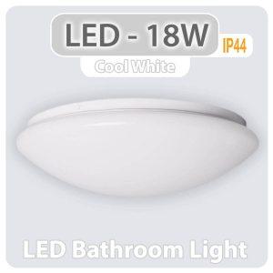 LED Flush Ceiling Light 18W IP44 Round cool white 31114 01 1