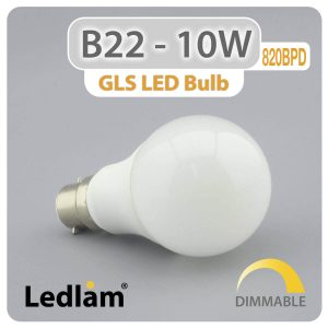Ledlam B22 LED Bulb 10W 820BPD dimmable 01 1