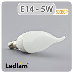 Ledlam E14 500BCP 5W LED Bent Candle Bulb 01 1