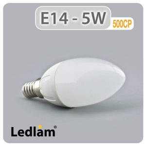 Ledlam E14 500CP 5W LED Candle Bulb 01 1