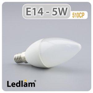 Ledlam E14 LED Candle Bulb 5W 510CP 01 1