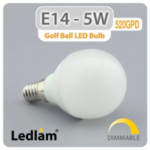 Ledlam E14 LED Golf Ball Bulb 5W 520GPD dimmable 01 1