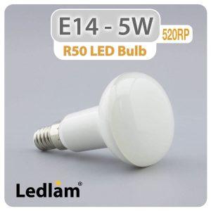 Ledlam E14 R50 LED Reflector Bulb 5W 520RP 01 1