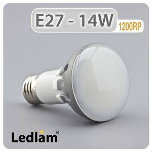 Ledlam E27 1200RP 14W LED R63 Reflector Bulb 01 1