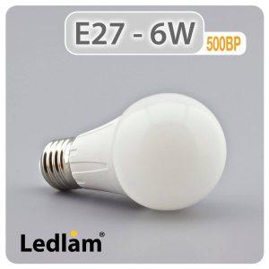 Ledlam E27 500BP 6W LED Bulb 01 1