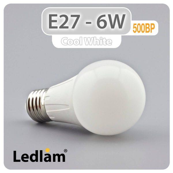 Ledlam E27 500BP 6W LED Bulb Cool White 30330 1