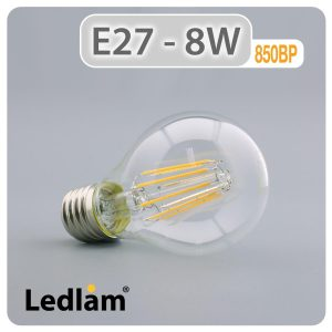Ledlam E27 850BP 8W LED Filament Bulb 01 1