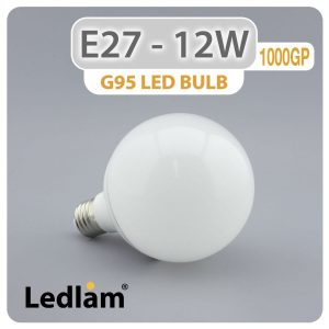 Ledlam E27 G95 LED Globe Bulb 12W 1000GP 01 1