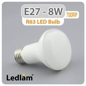 Ledlam E27 R63 LED Reflector Bulb 8W 700RP 01 1