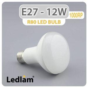 Ledlam E27 R80 LED Reflector Bulb 12W 1000RP 01 1