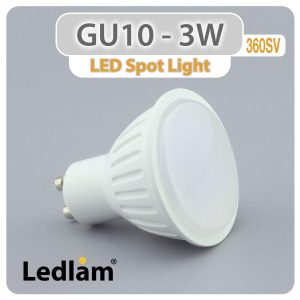 Ledlam GU10 LED Spot Light 3W 360SV 01 2