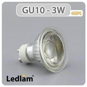 Ledlam GU10 LED Spot Light 3W COB 400SPG 01 3