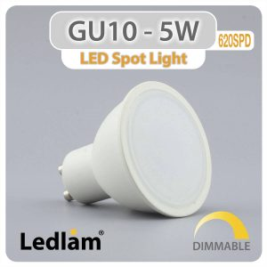 Ledlam GU10 LED Spot Light 5W 620SPD dimmable 01 1