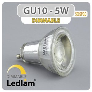 Ledlam GU10 LED Spot Light 5W COB 500SPGD dimmable 01 1