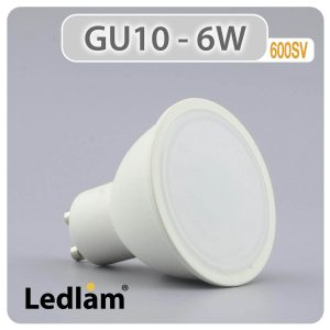 Ledlam GU10 LED Spot Light 6W 600SV 01 1