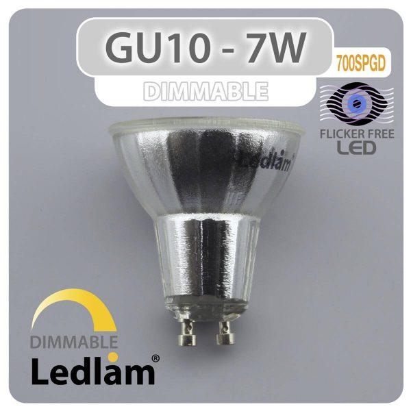Ledlam GU10 LED Spot Light 7W COB 700SPGD dimmable 02 1