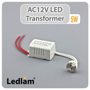 Ledlam LED Driver Transformer AC12V 5W with socket 30202 01