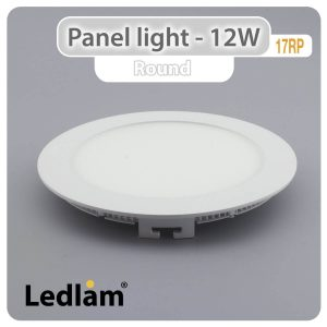 Ledlam LED Panel Light 12W Round 17RP 01