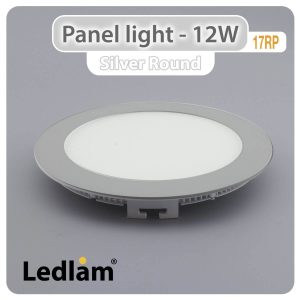 Ledlam LED Panel Light 12W Round 17RP silver 01
