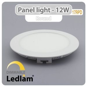 Ledlam LED Panel Light 12W Round 17RPD dimmable 01