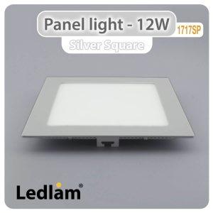 Ledlam LED Panel Light 12W Square 1717SP silver 01