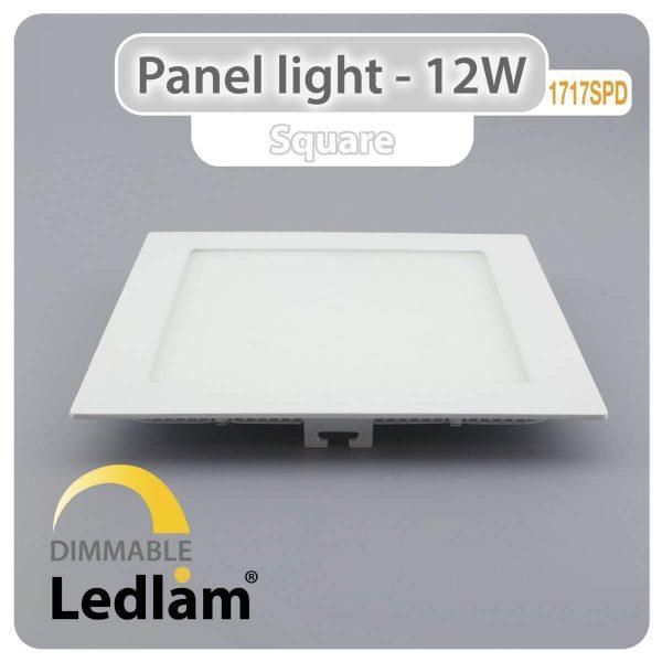 Ledlam LED Panel Light 12W Square 1717SPD dimmable 01