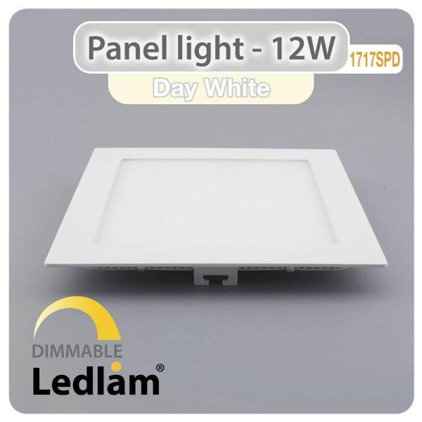 Ledlam LED Panel Light 12W Square 1717SPD dimmable Day White 30398