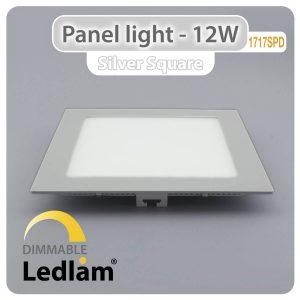 Ledlam LED Panel Light 12W Square 1717SPD silver dimmable 01