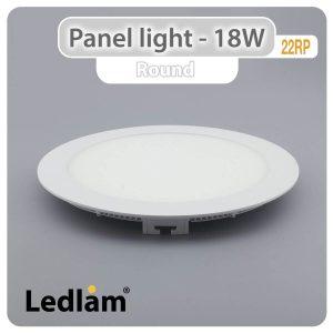 Ledlam LED Panel Light 18W Round 22RP 01