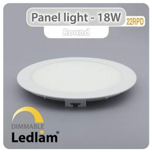 Ledlam LED Panel Light 18W Round 22RPD dimmable 01