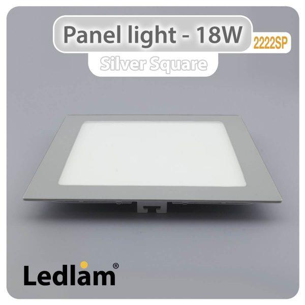 Ledlam LED Panel Light 18W Square 2222SP silver 01