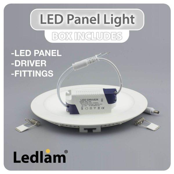 Ledlam LED Panel Light 18W Square 2222SP silver 02