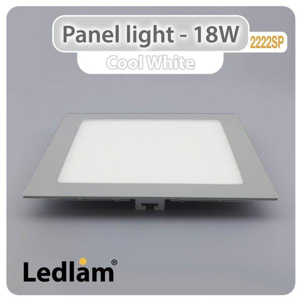 Ledlam LED Panel Light 18W Square 2222SP silver Cool White 30565