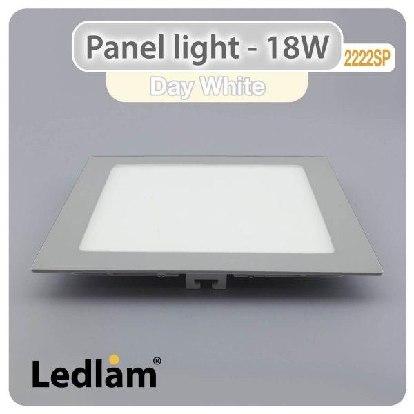 Ledlam LED Panel Light 18W Square 2222SP silver Day White 30564