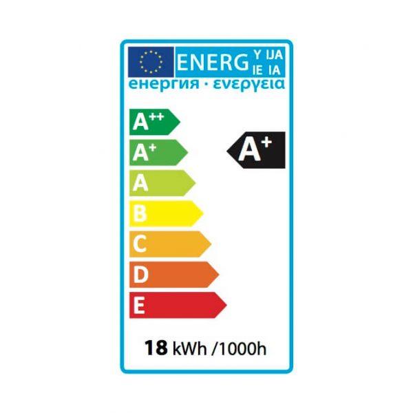 Ledlam LED Panel Light 18W Square 2222SP silver Energy Label