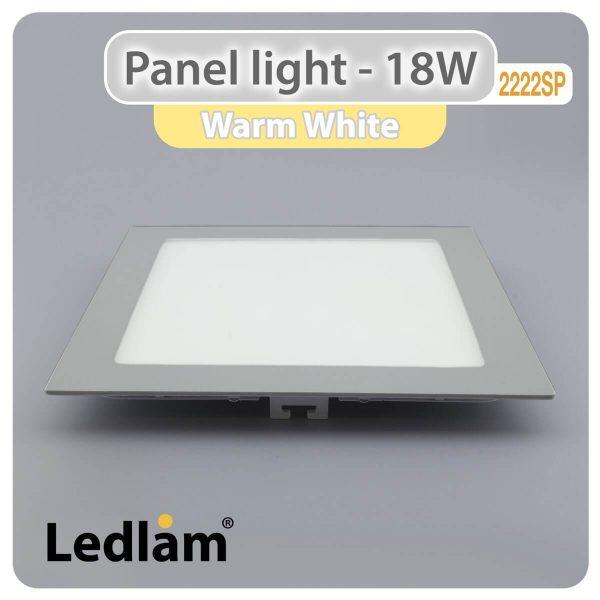 Ledlam LED Panel Light 18W Square 2222SP silver Warm White 30438