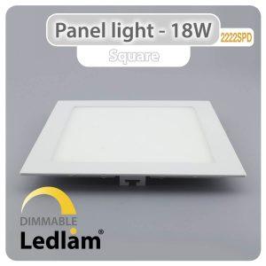Ledlam LED Panel Light 18W Square 2222SPD dimmable 01
