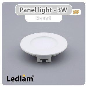 Ledlam LED Panel Light 3W Round 9RP 01