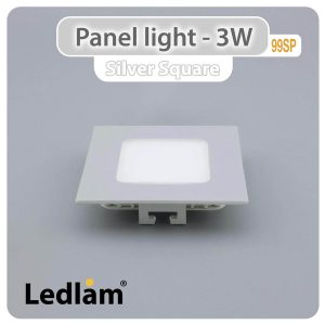 Ledlam LED Panel Light 3W Square 99SP silver 01