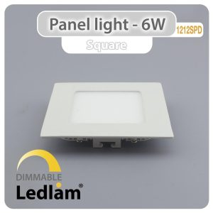 Ledlam LED Panel Light 6W Square 1212SPD dimmable 01