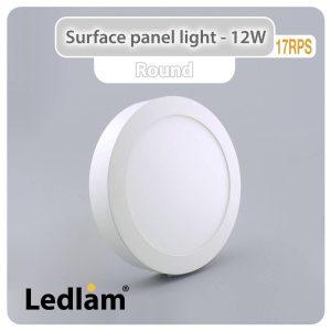 Ledlam LED Surface Panel Light 12W Round 17RPS 01