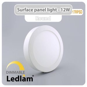 Ledlam LED Surface Panel Light 12W Round 17RPSD dimmable 01