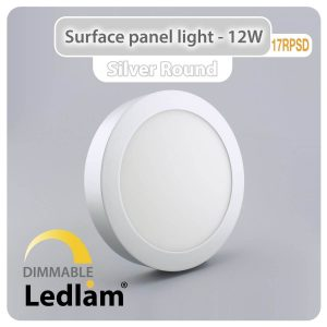 Ledlam LED Surface Panel Light 12W Round 17RPSD silver dimmable 01