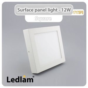 Ledlam LED Surface Panel Light 12W Square 1717SPS 01