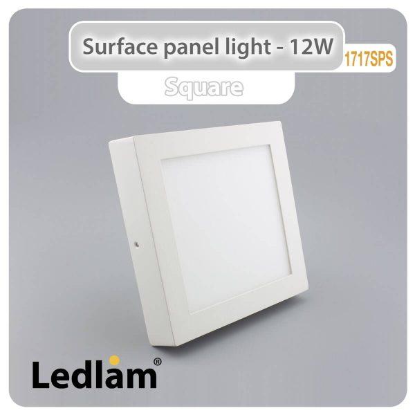 Ledlam LED Surface Panel Light 12W Square 1717SPS 01