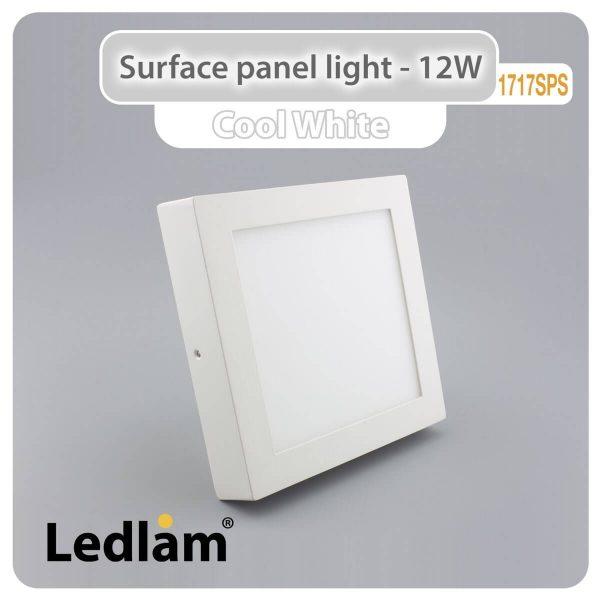 Ledlam LED Surface Panel Light 12W Square 1717SPS Cool White 30577