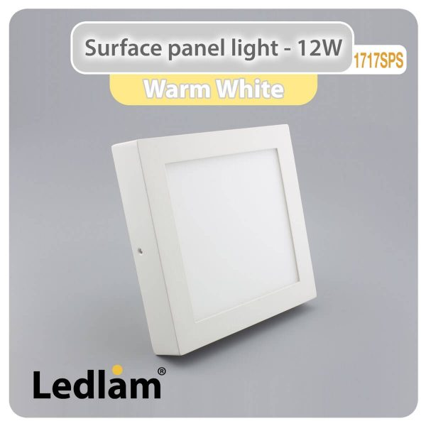 Ledlam LED Surface Panel Light 12W Square 1717SPS Warm White 30575