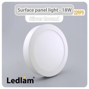 Ledlam LED Surface Panel Light 18W Round 22RPS 01