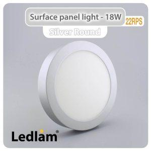 Ledlam LED Surface Panel Light 18W Round 22RPS silver 01